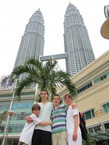 Twin Towers med familie